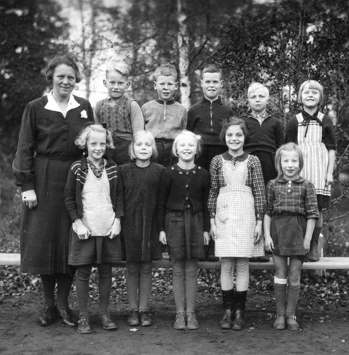 2:a klass i småskolan 1942