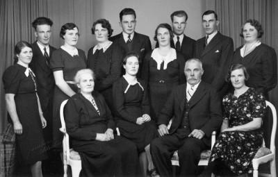 Familjen Karl och Anna Jakobsson