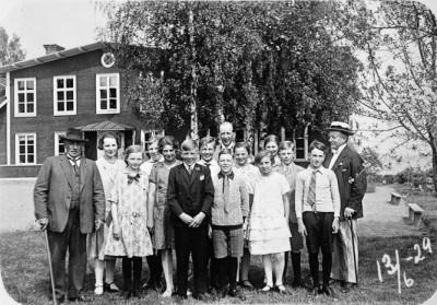 År 1929, examen i storskolan