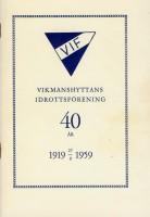Vikmanshyttans idrottsförening 40 år
