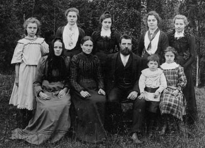 Familjen Erik och Abrahamina Dahlgren