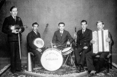 Cid Ranhos Jazz Band 1930: Gunnar Viberg, Ernst Bäck, Karl Sälgström, Helge Lawin, Arne Karlsson