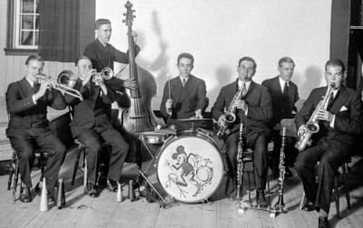 Crescendo 1935: Erland Lawin, Tore Norman, Martin Sälgström, Karl Sälgström, Einar Karlsson, Hugo Norman, Helge Lawin