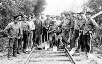 Spårarbetare vid Södra Dalarnas Jernväg