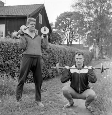 """Ett par starka """"gossar"""": Karl-Åke Hagman & Bertil Tallberg"""