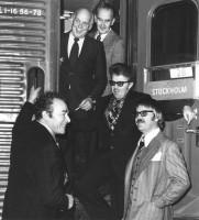 Mot Kungliga Huvudstaden - fr.v.: Franz Weilguni, Erik Lindstedt, Bengt Malmberg (Metall7), Torsten Drakes (SALF), Länarth Brötegård (SIF)