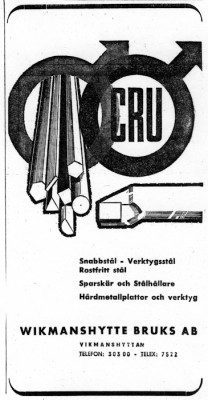 """Låt oss illustrera artikeln med en """"slående"""" annons anno dazumal"""