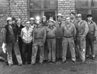 En del av smidespersonalen 1976-77