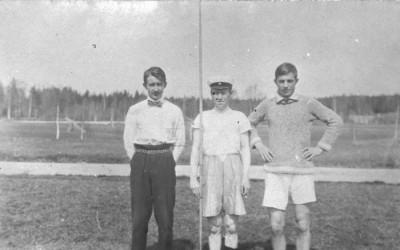 Herman Hellkvist, Erik Mikaelsson och Gunnar Karlsson