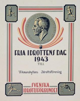Diplom från Svenska Idrottsforbundet