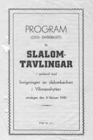Tävlingsprogrammets första sida