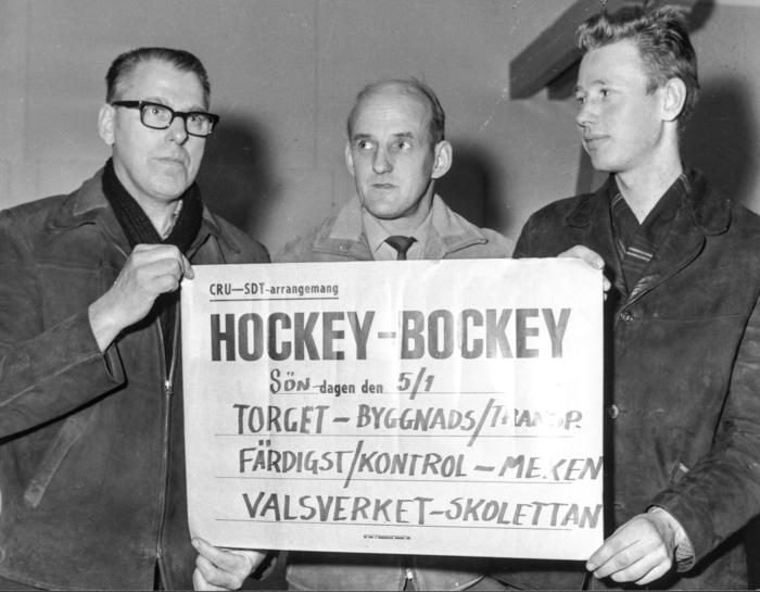 Klart med start för Hockey-bockey 1963. Erik Franzén & Co är redo.