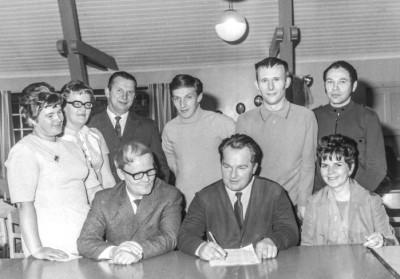 Finska föreningens första styrelse