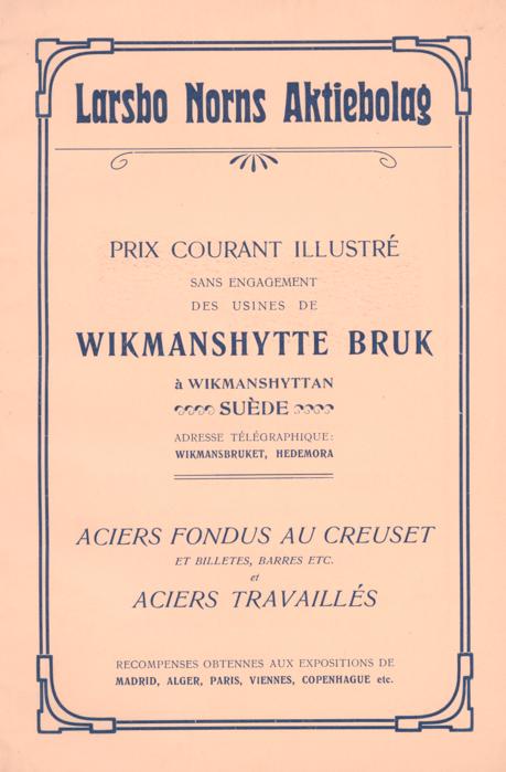 Priskurant från 1905