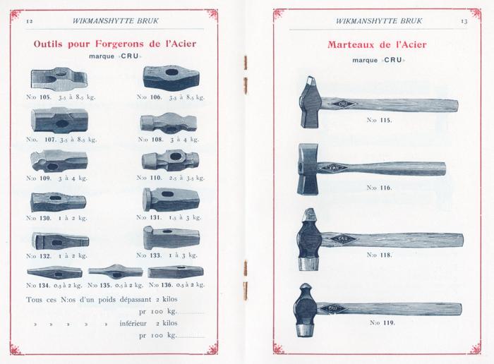 Uppslag från katalogen