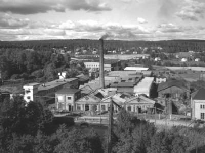 Gammal industrivy från hyttan