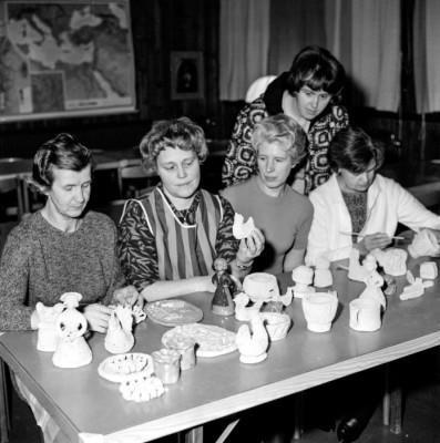 fr.v.: Gundborg Lundin, Britta Andersson, Vera Bjernevi, Bitta Edvardsson