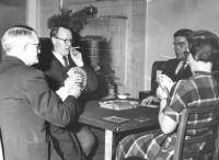 fr.v.: David Lindborg, Gerhard Hedberg, Gösta Björkström och Anna Sannas