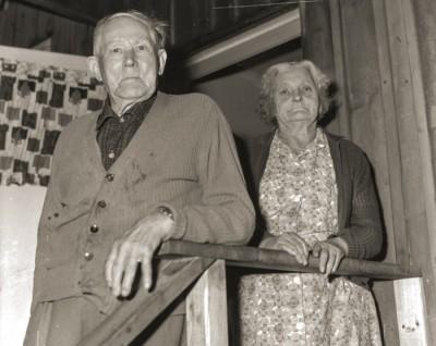 Sista badföreståndaren Elin Bergman, tillsammans med maken Alfred Blank