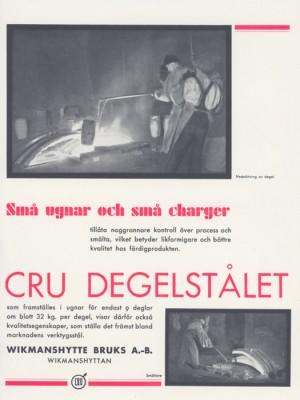 """""""CRU degelstålsannonsen"""""""