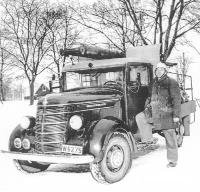 Den gamla brandbilen, chaufför Ernst Nordström