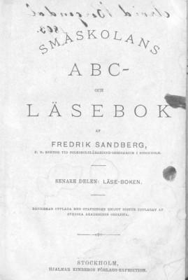 Småskolans ABC- och läsebok tryckt 1891