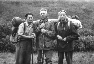Olof Viklund, Hugo Karlsson och Tore Bengtsson