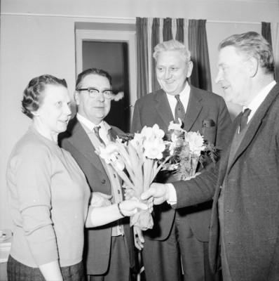 Greta och Karl Forsberg avtackas
