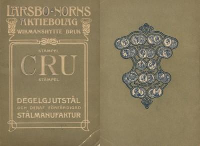 1904 års priskurant, fram- och baksida