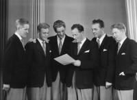 K-G (2:a från höger) i Allan Norrlunds orkester