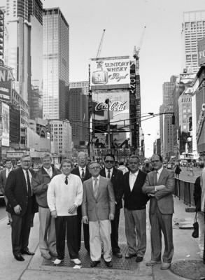 Eric Ahlans på Broadway i New York 1989. Fr. v.: Olle Lindholm, Stig Hellberg, Sven-Eric Sälgström, Sune Hjorth, Allan Carlsson, Karl-Erik Bergman, Georg Stålberg och Åke Karlsson