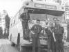 Det har blivit många lägerresor , här på resande fot Lennart S., Jan-Olof S., Tage K., Lennart H af S., Torsten N.