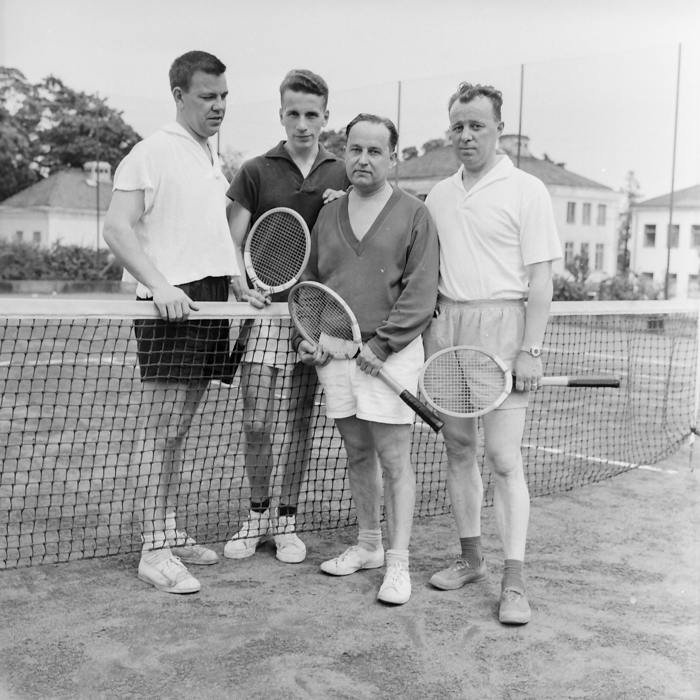 Kvartetten Länarth Brötegård, Nils Huhta, Olle Andersson, Ture Bergqvist