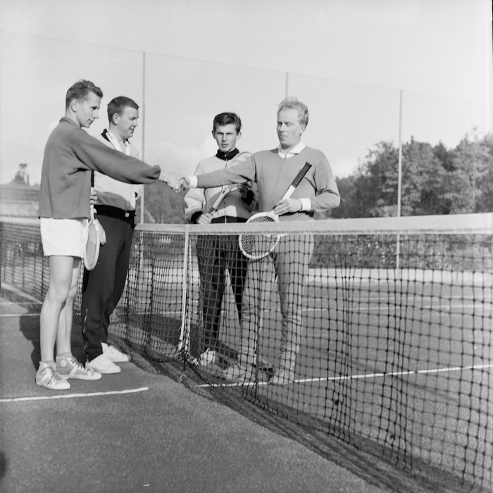 Nils Huhta, Länarth Brötegård, Sven Alexandersson, Werner Elvgren