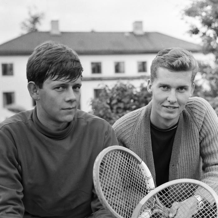 Börje Melkersson (t.h.), juniormästare 1965, tillsammans med tvåan Håkan Hammarström.