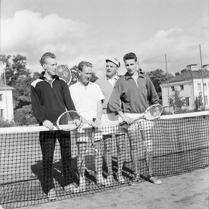 Dubbelmästare 1961: Holger Winlund & Lennart Gustavsson mot [...] & Nils Huhta