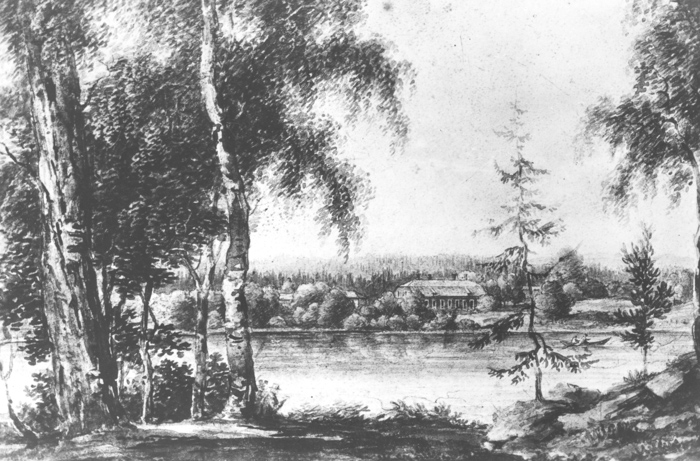 Herrgården, gammal akvarell