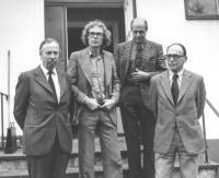 Åsling-gruppen: Landshövdning Bengt Olsson, Metallombudsman Sven Svensson, Departementsråd Aksel Spendrup, Avdelningschef-Arbetsdpartementet Åke Larsson